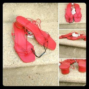 Zara Red Strappy heel sandal
